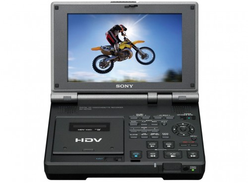 "SONY 7"" LCD with HDV VCR"